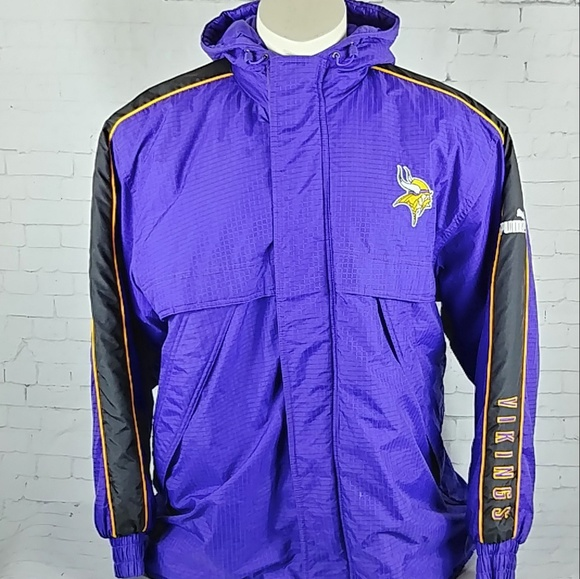 get cheap 2d3e4 537a2 Puma NFL Minnesota Vikings Football Jacket Coat